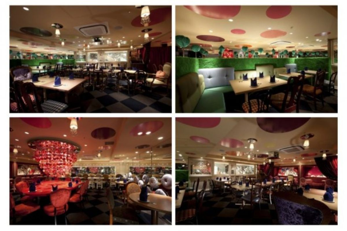 En Tokio hay un restaurante que recrea el mundo de Alicia en el País de las Maravillas Foto:Dailypix