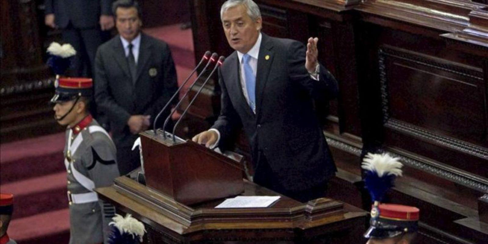 En la imagen, el presidente de Guatemala, Otto Pérez Molina. EFE/Archivo