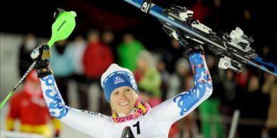 La ganadora Veronika Velez Zuzulova de Eslovaquia. EFE