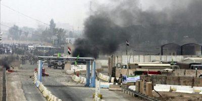 Enfrentamientos entre manifestantes suníes y soldados iraquíes en la ciudad de Faluya, 50 kilómetros al oeste de Bagdad (Irak). EFE