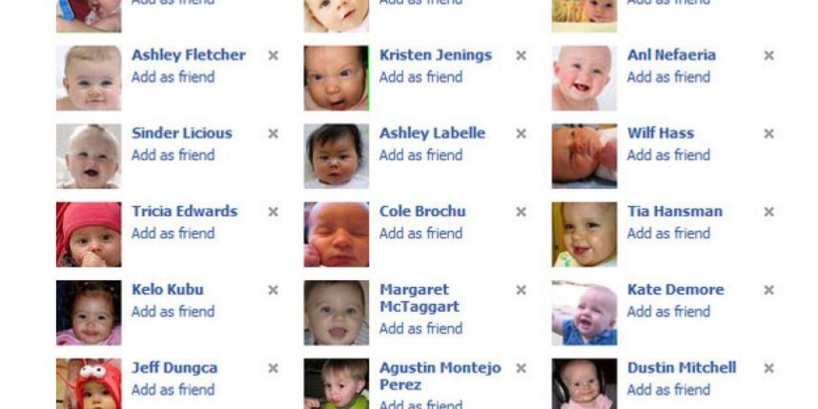 4. Perfiles con fotos infantiles: Es una especie de virus en Facebook. Llega a ser tierna hasta cierto punto, pero luego, cansa. Sobre todo, como se dijo, si es viral. Foto:Buzzfeed