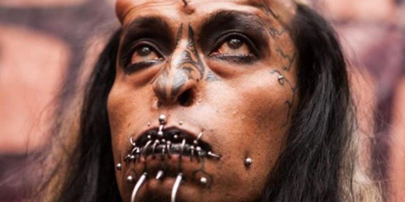 """El hombre conocido popularmente como """"Satán"""". Foto:Cortesía"""