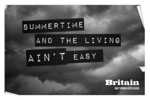 Este aviso se refiere al siempre húmedo y lluvioso clima inglés. Foto:The Guardian