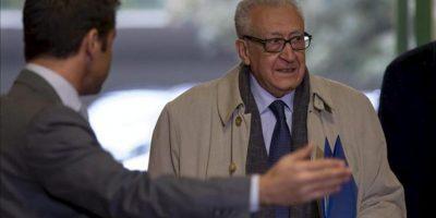 El representante especial conjunto para Siria, Lajdar Brahimi (d). EFE/Archivo