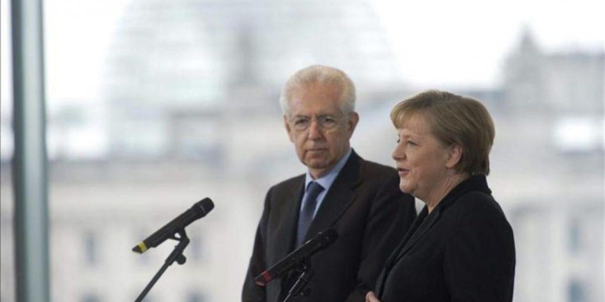 Merkel recibe a Monti para preparar la cumbre europea sobre los presupuestos