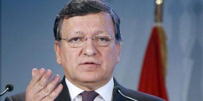"""El presidente de la Comisión Europea, José Manuel Durao Barroso, ofrece un discurso durante la Conferencia """"Vienna R20"""", celebrada hoy n Viena, Austria. EFE"""
