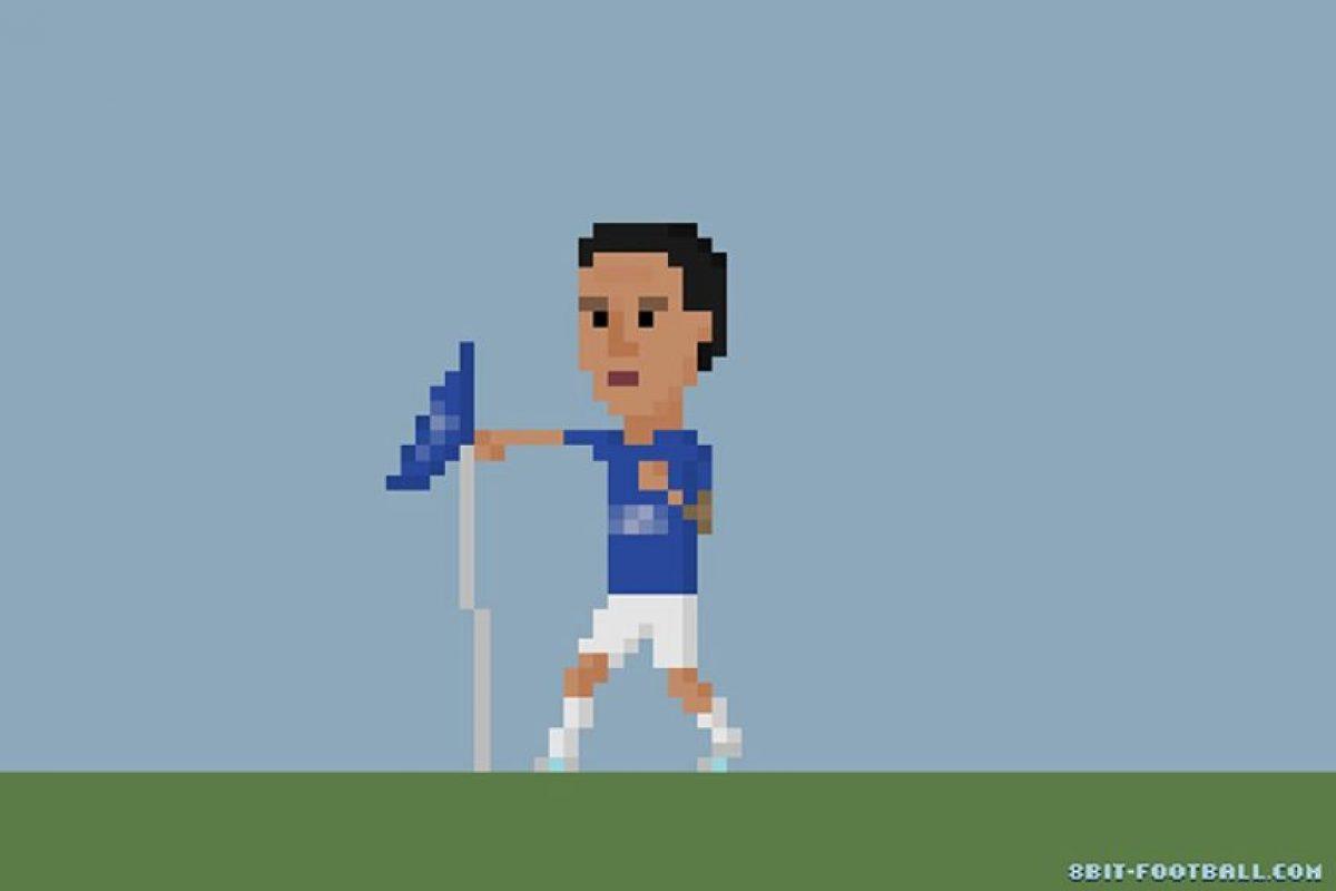 Tim Cahill, del Everton, y su festejo tras anotar un gol. Foto:Matheus Toscano