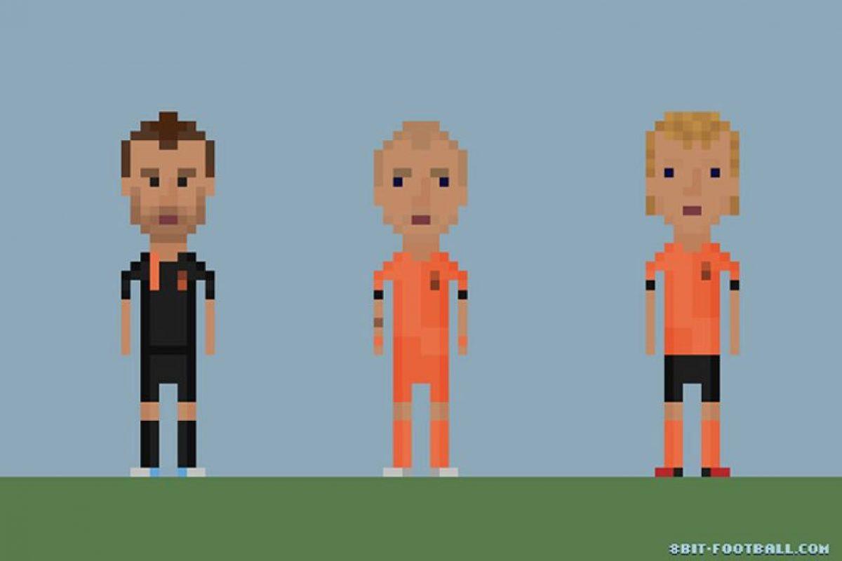 Rafael van der Vaart, Wesley Sneijder y Dirk Kuyt. Foto:Matheus Toscano