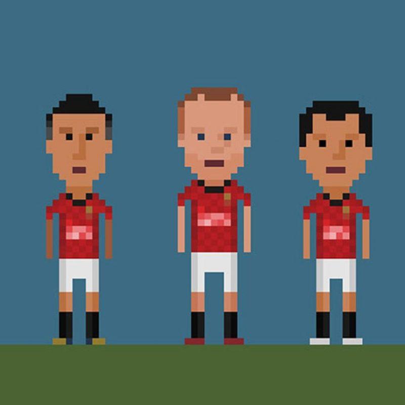 Robin van Persie, Wayne Rooney y Javier Hernández. Foto:Matheus Toscano