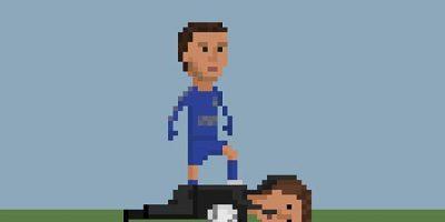 Eden Hazard pateando al recoge pelotas. Foto:Matheus Toscano