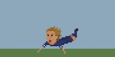 Jurgen Klinsmann y su festejo de gol. Foto:Matheus Toscano