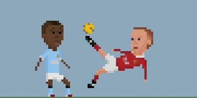 La chilena de Rooney ante el Manchester City. Foto:Matheus Toscano