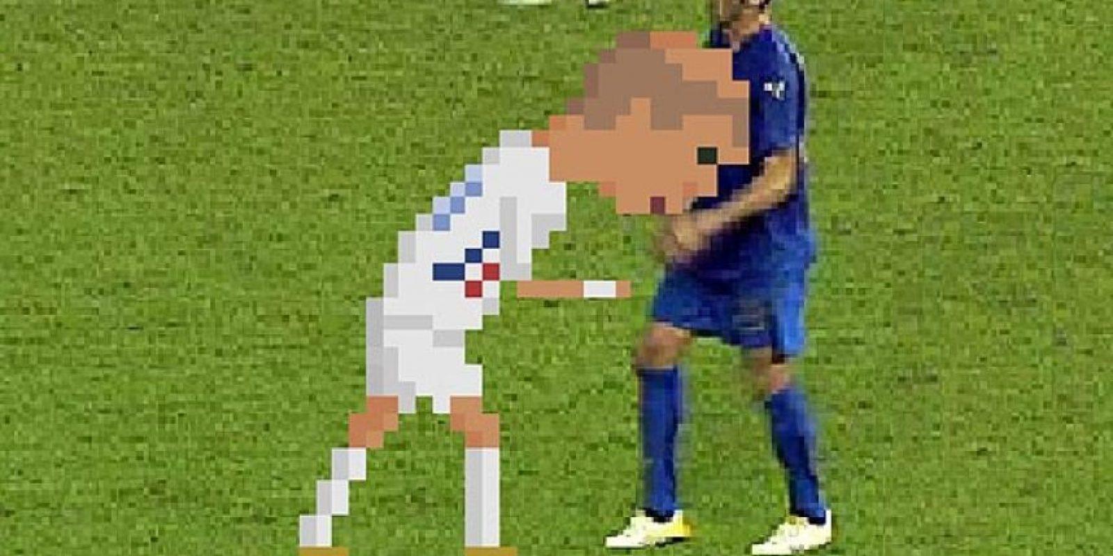 El cabezazo de Zidane a Materazzi. Foto:Matheus Toscano