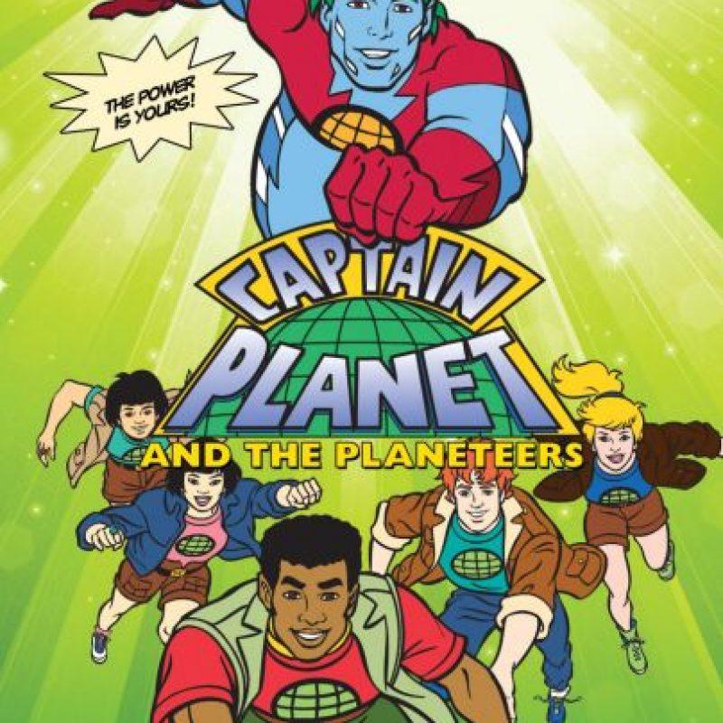 'El Capitán Planeta', y sus 5 planetarios mandaban un mensaje ecológico. Foto:DIC/ Hanna Barbera
