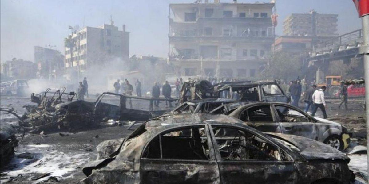 Un atentado con coche bomba causa 53 muertos en el corazón de Damasco
