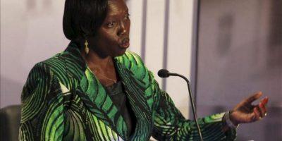 La candidata a la presidencia de Kenia Martha Karua participa en el segundo debate televisado. EFE