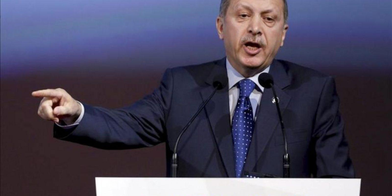 El primer ministro turco, Recep Tayyip Erdogan, durante la inauguración del V Foro de la Alianza de Civilizaciones en Viena, Austria, el 27 de febrero de 2013. EFE