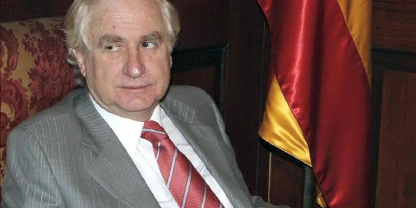Fotografía tomada en junio de 2008 en la que se registró al diplomático chileno Adolfo Zaldívar Larraín, quien ejercía como embajador de su país en Argentina y murió esta madrugada en Santiago de Chile víctima de un cáncer de páncreas. EFE/Archivo
