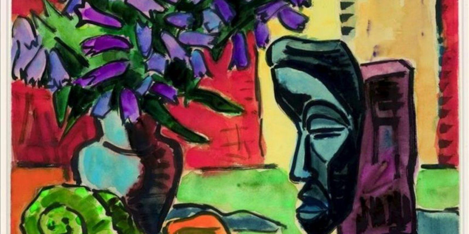 """Fotografía facilitada por La colección Bayer de la obra """"Bodegón con campanilla delante de una máscara"""", de Karl Schmidt-Rottluff, que forma parte de la muestra """"De Beckmann a Warhol"""". EFE"""