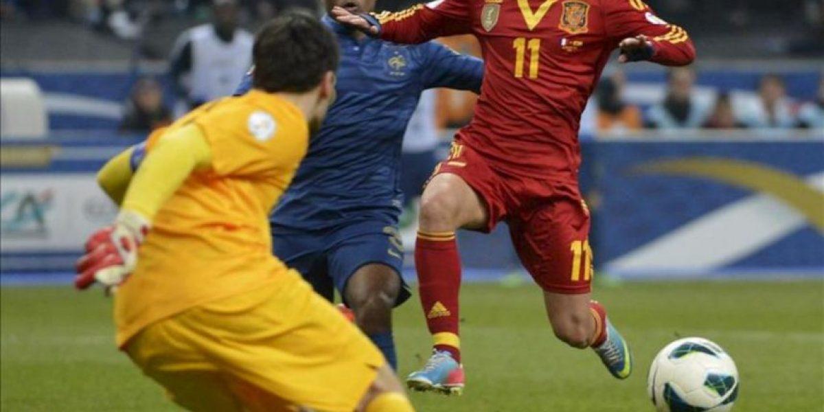 0-1. España gana a Francia y encarrila su pase a Brasil 2014