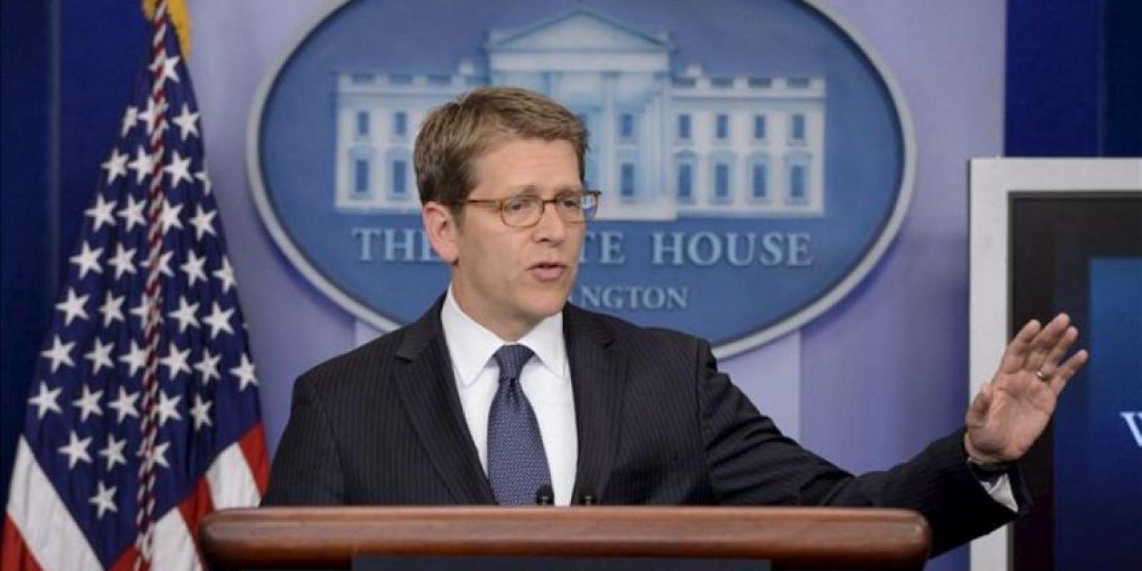 En la imagen, el portavoz de la Casa Blanca, Jay Carney. EFE/Archivo