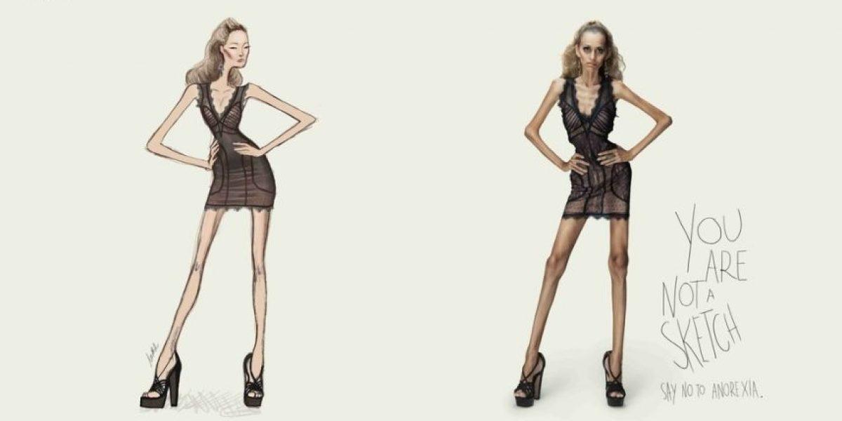 Impactante campaña contra la anorexia se lanza en Brasil