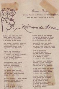 Uno de los últimos poemas de 'Ximénez' en 'El Espectador'. Foto:Cortesía