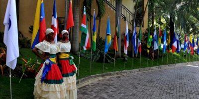 Vista general de la entrada al lugar donde se realiza la reunión de cancilleres de la V Cumbre de miembros de la Asociación de Estados del Caribe (AEC), en Puerto Príncipe (Haití). EFE