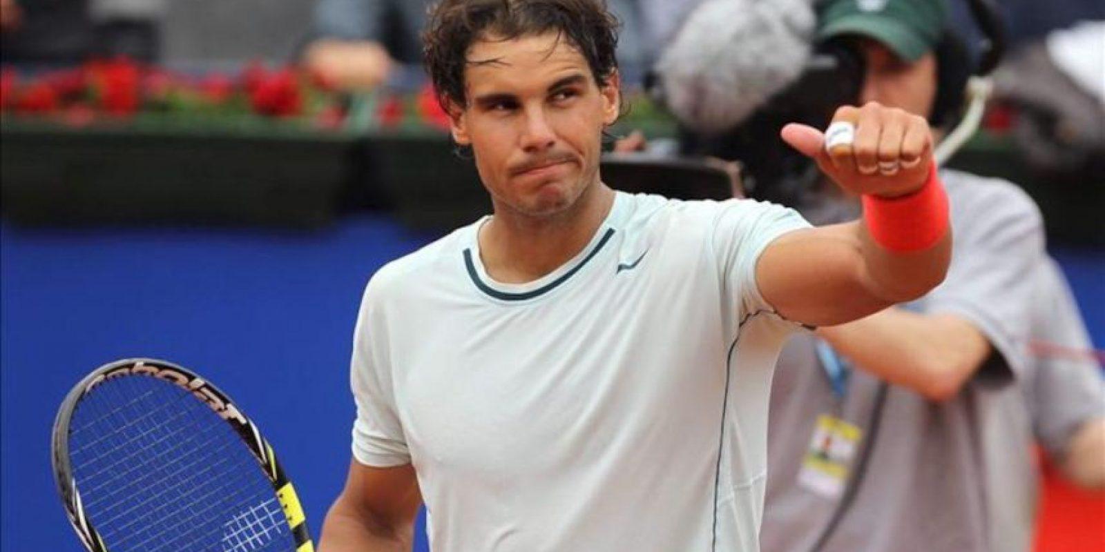 El tenista español Rafa Nadal tras vencer al francés Benoit Paire en los octavos de final del Trofeo Godó. EFE