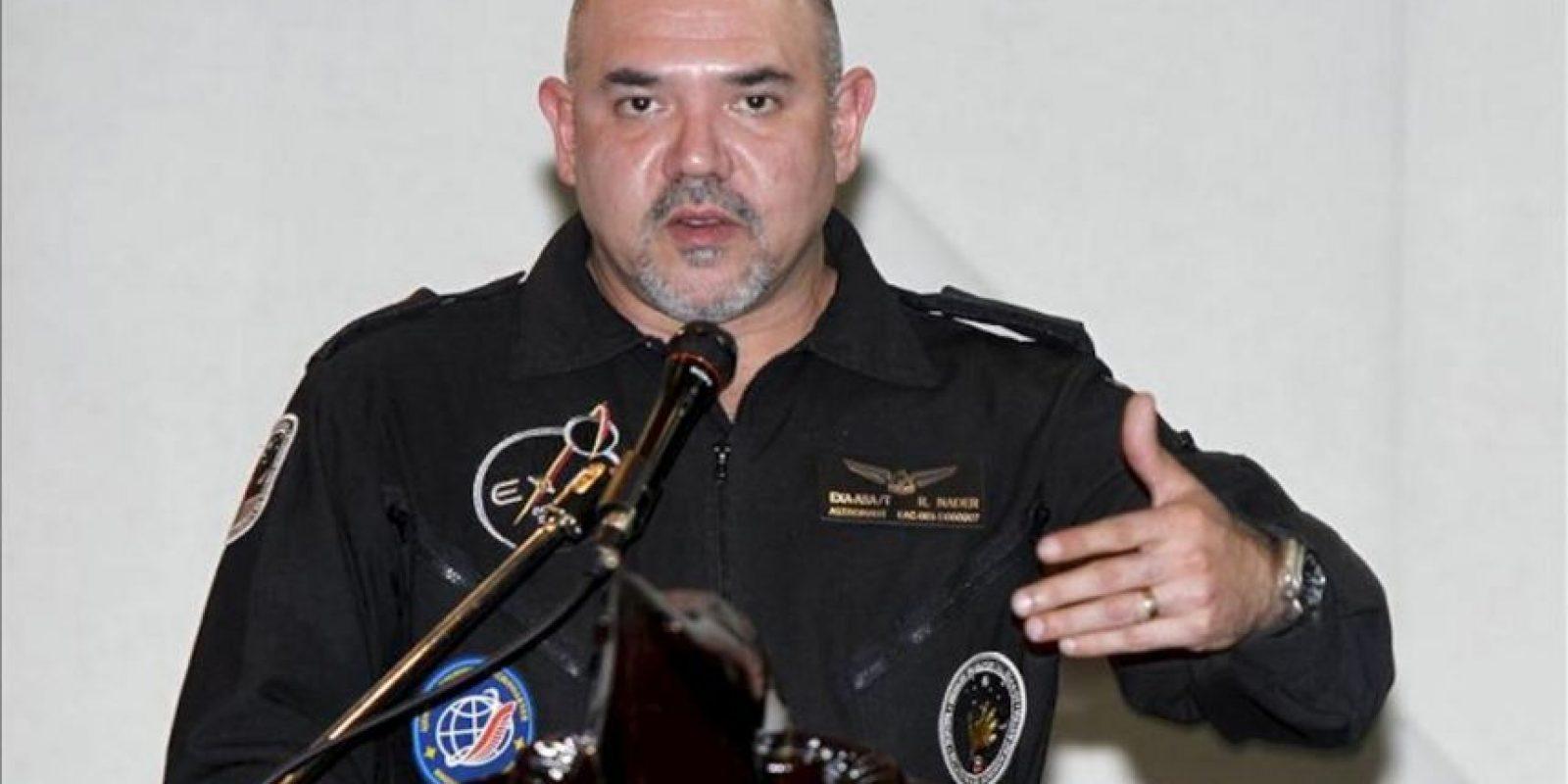 En la imagen, el primer astronauta ecuatoriano y director de la Agencia Espacial Civil Ecuatoriana (EXA), Ronnie Nader, quien considera que todo ha salido bien hasta el momento tras el lanzamiento del satélite ecuatoriano Pegaso. EFE/Archivo