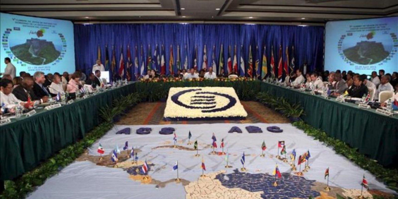 Vista general durante la inauguración de la V Cumbre de Jefes de Estado y de Gobierno de la Asociación de Estados del Caribe (AEC), en Puerto Príncipe (Haití). EFE
