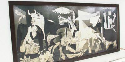 La réplica de la obra 'Guernica' de Pablo Picasso. Foto:Oficina de prensa Alcaldía Local de Teusaquillo
