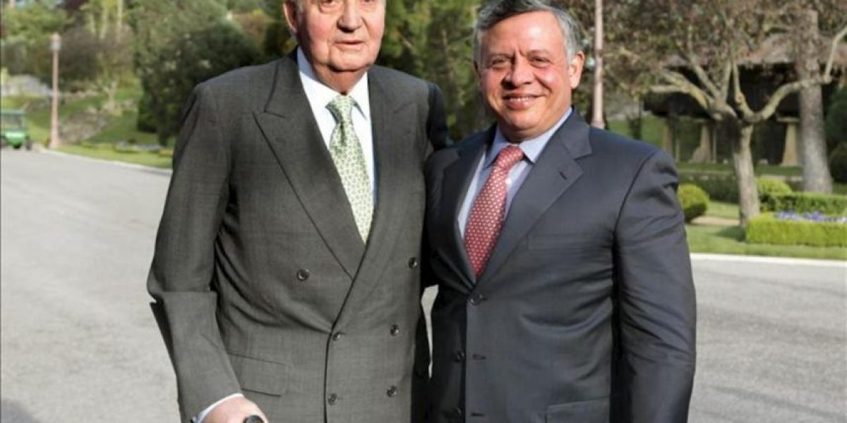 Los reyes de España y Jordania analizan la situación en Oriente Medio
