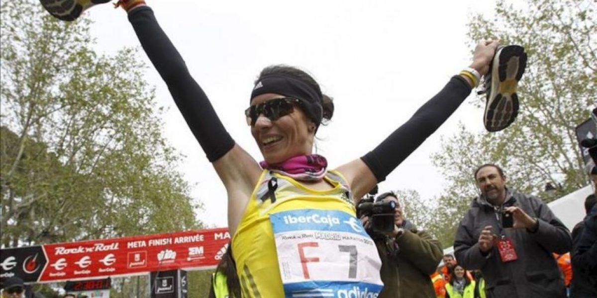 Francis Kiprop y Vanessa Veiga ganan el maratón de Madrid