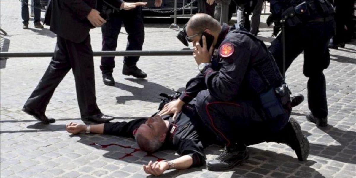 Tres personas heridas por disparos ante la sede del Ejecutivo italiano