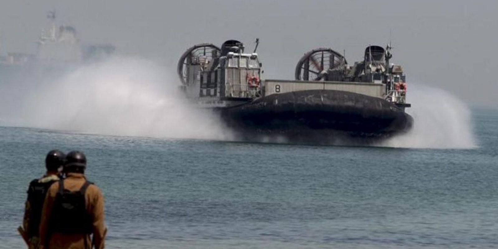 Marines estadounidenses participan en las maniobras conjuntas con Corea del Sur ante las últimas amenazas de Corea del Norte en Pohang (Corea del Sur), la semana pasada. EFE