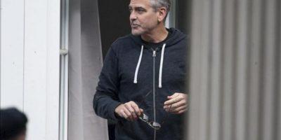 """El actor y director estadounidense George Clooney hoy durante el rodaje de su película """"The Monuments Men"""", en Goslar (Alemania). EFE"""