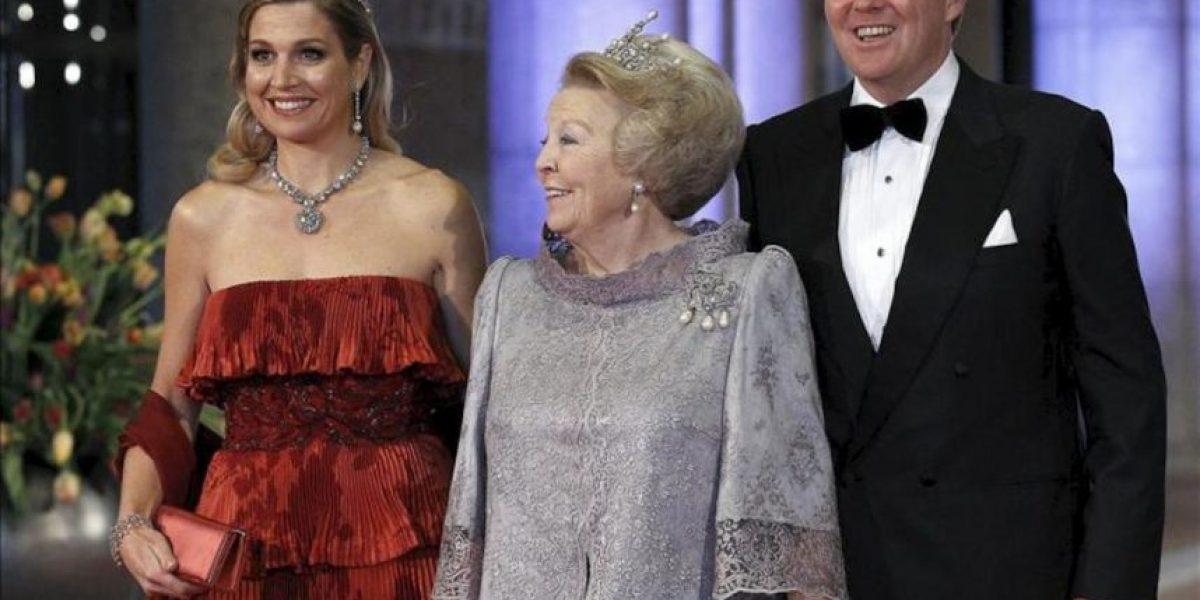 Máxima Zorreguieta elige el rojo para su última noche como princesa Holanda