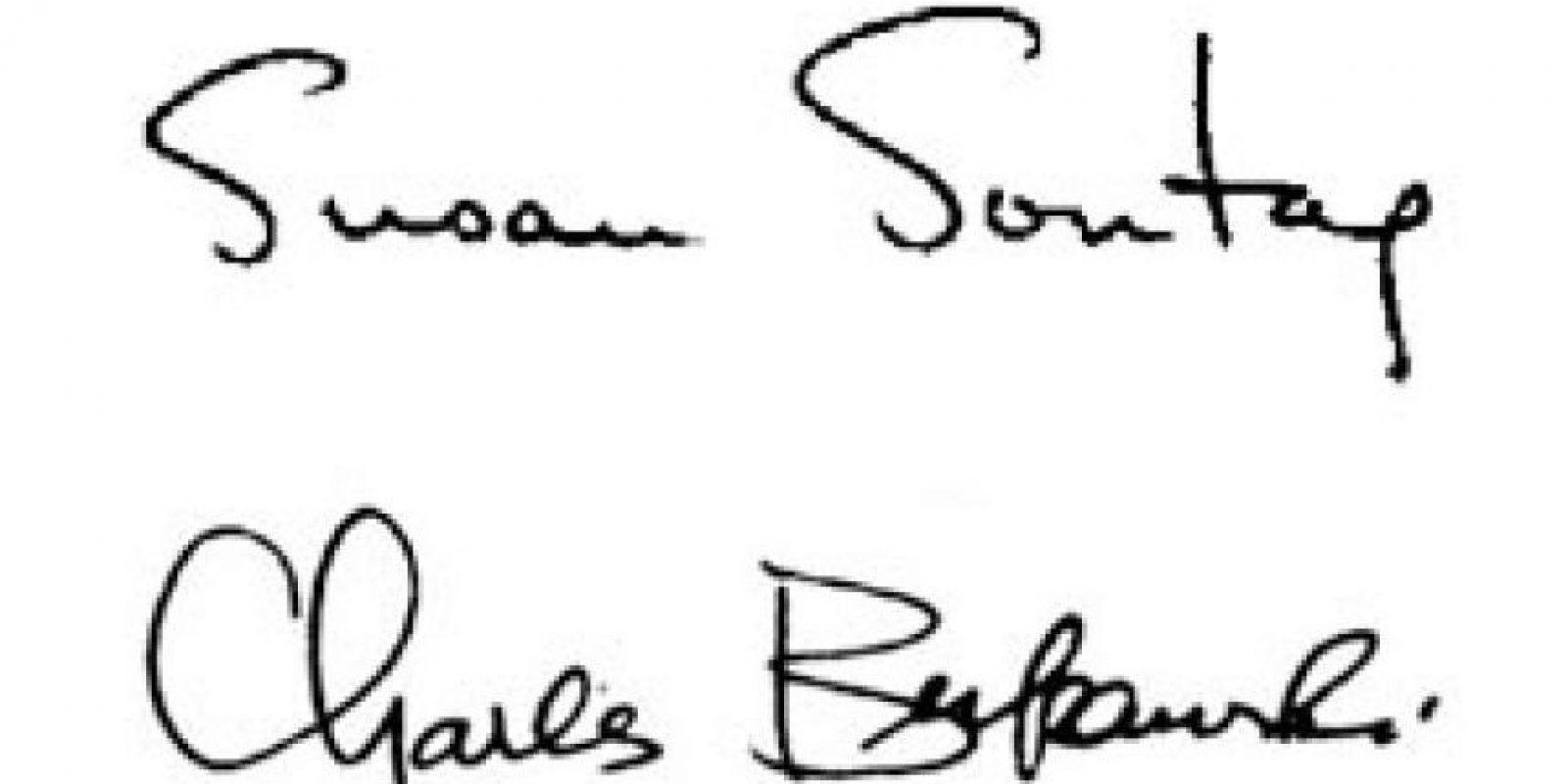 Susan Sontag y Charles Bukowski