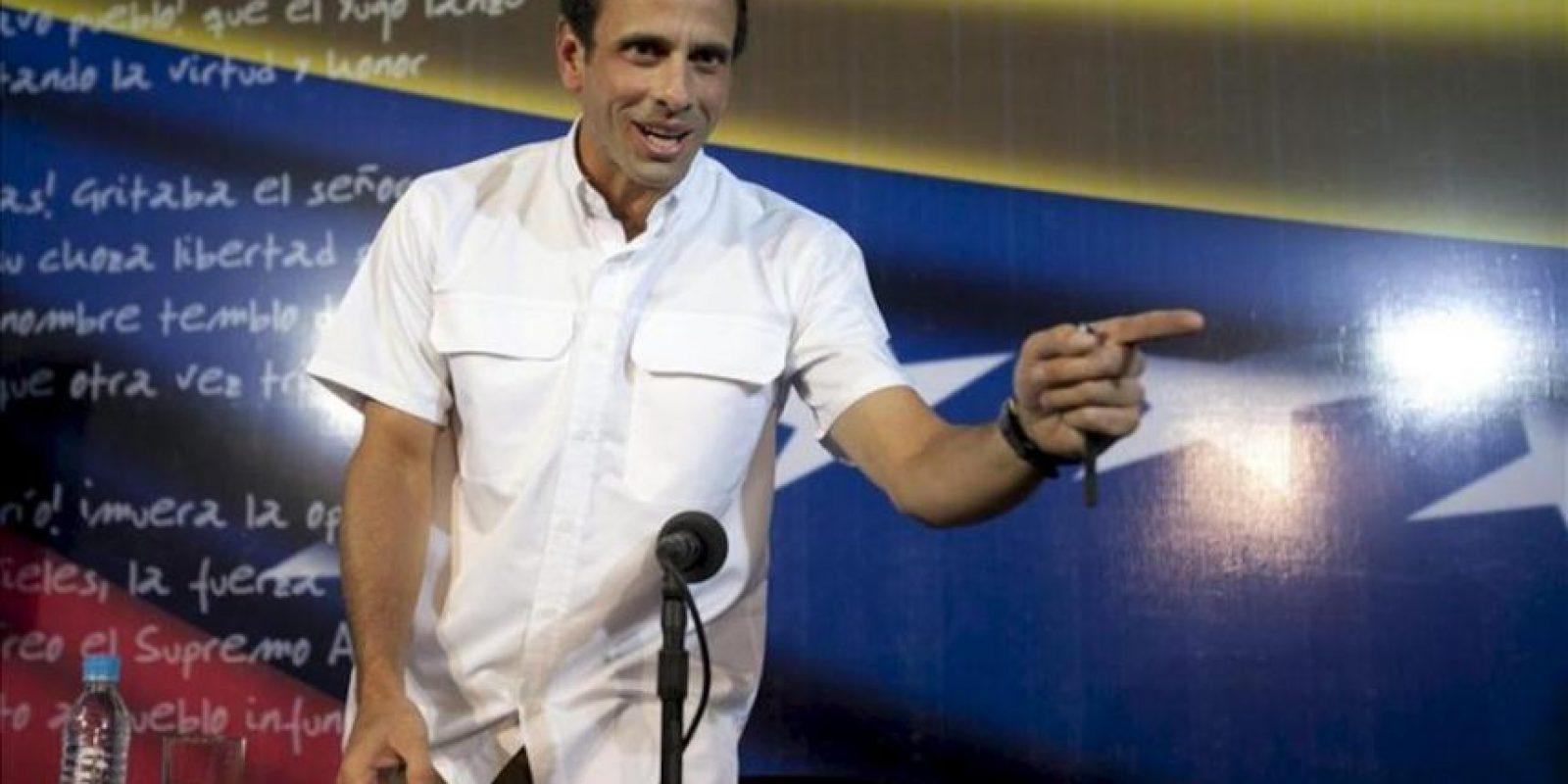 En la imagen, el líder opositor venezolano Henrique Capriles. EFE/Archivo