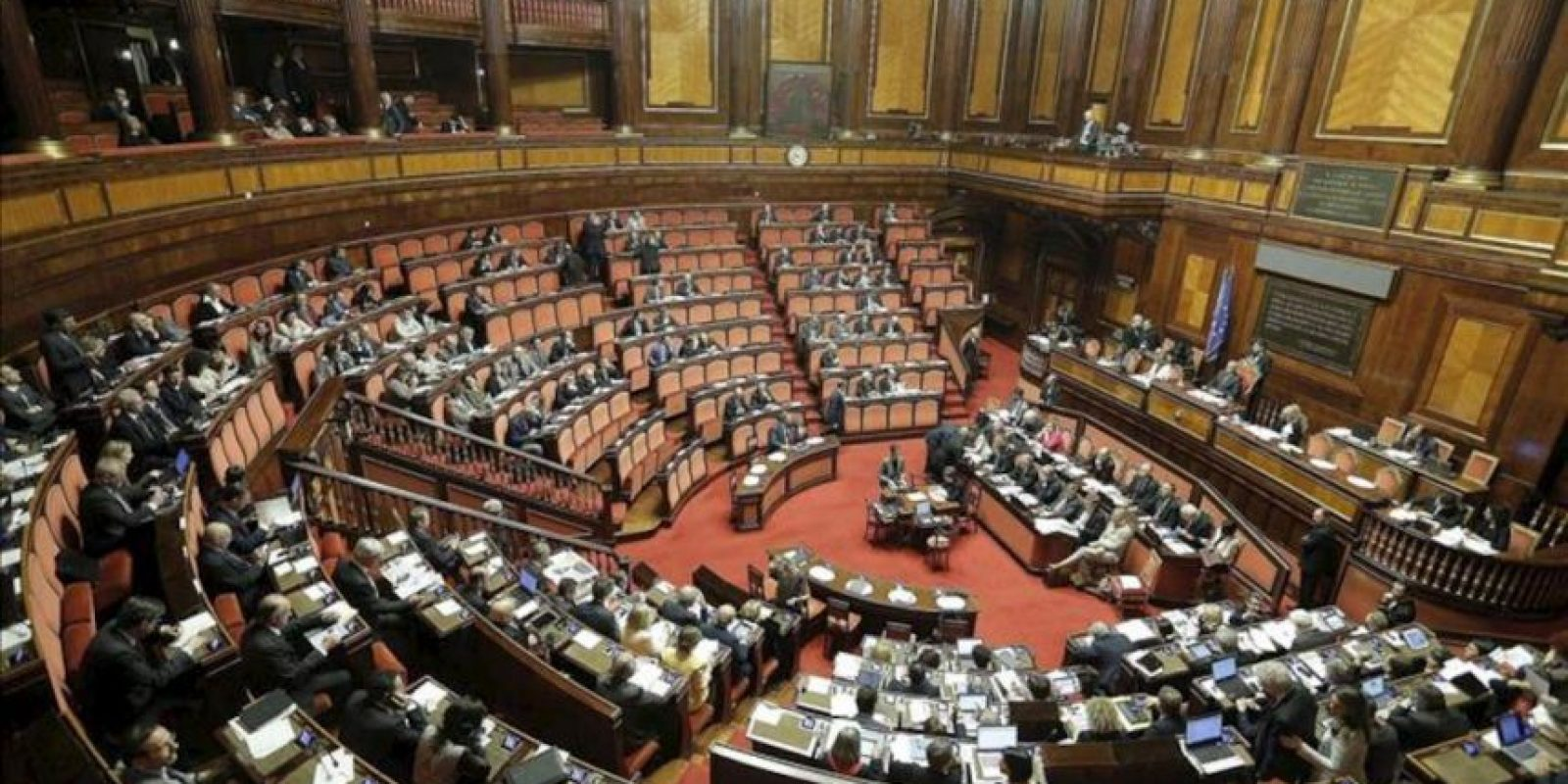 Vista general del Senado italiano. EFE