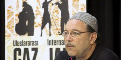 El músico panameño Rubén Blades durante una charla informal con el público. EFE
