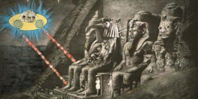 """Fotografía facilitada por la Tate Modern de la obra """"Abu Simbel"""" (2005), de la polifacética artista estadounidense Ellen Gallagher. EFE"""