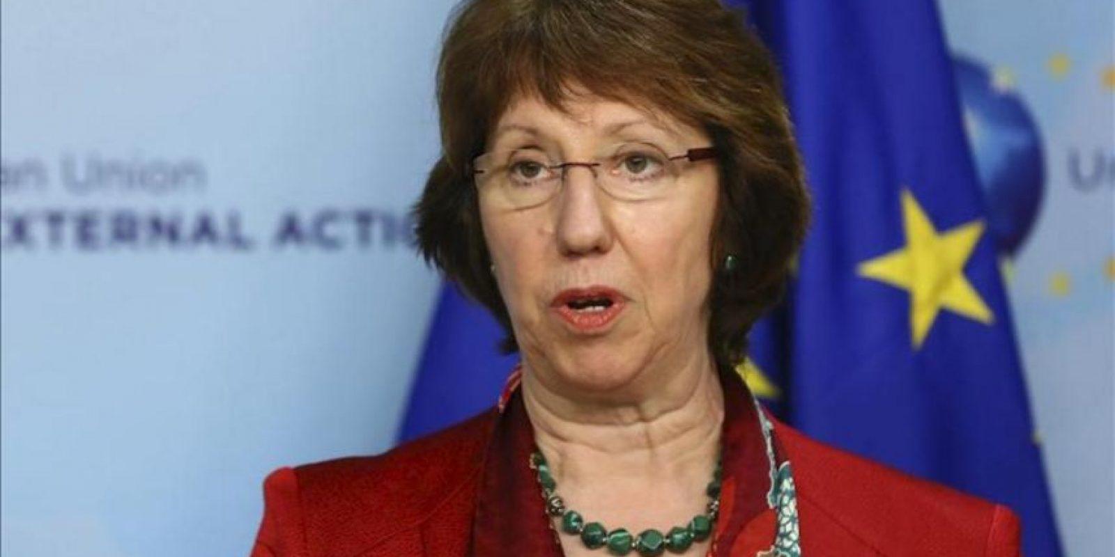 La jefa de la diplomacia europea, Catherine Ashton. EFE/Archivo