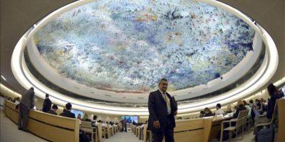La embajadora de Estados Unidos ante el Consejo de Derechos Humanos de la ONU en Ginebra, Eileen Chamberlain Donahoe, interviene en el debate sobre la situación de Siria en la 23 sesión del Consejo de Derechos Humanos en su sede en Ginebra (Suiza). EFE