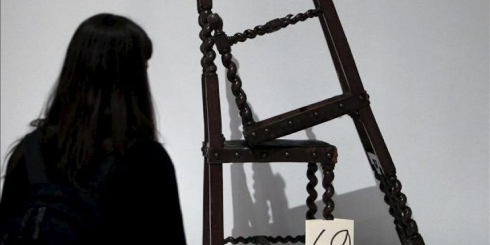 """""""69"""", una de las piezas que forma parte de la exposición """"Parra. Obras públicas"""" que sobre el creador de la antipoesía y premio Cervantes chileno Nicanor Parra se ha inaugurado hoy en la Biblioteca Nacional. EFE"""