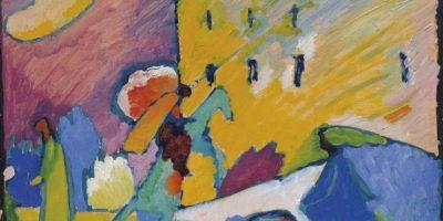 """Fotografía facilitada por la casa Christie's de la obra """"Studie zu Improvisation 3"""" del ruso Wassily Kandinsky, que encabeza una puja que tendrá lugar el 18 de junio en Londres. EFE"""
