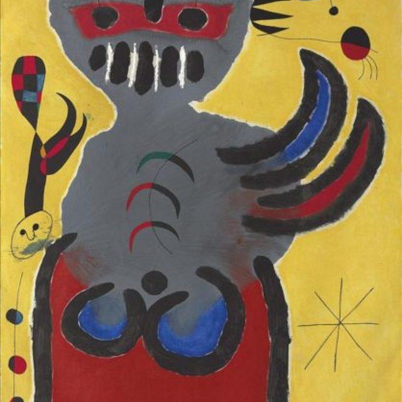 """Fotografía facilitada por la casa Christie's de la pintura """"La tige de la fleur rouge pousse vers la lune"""" de Joan Miró, una de las obras que se subastarán el próximo día 18 de junio en Londres, según ha informado hoy la casa londinense. EFE"""