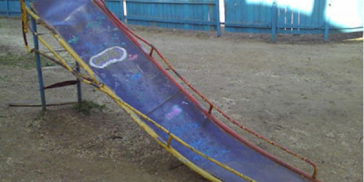 Fotos: Horribles rodaderos infantiles
