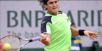 El tenista David Ferrer durante el partido de segunda ronda del torneo de tenis Roland Garros. EFE